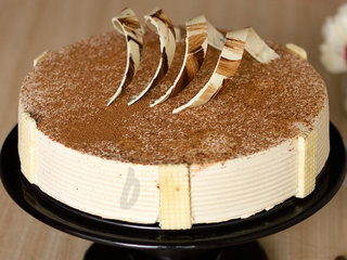 Zoomed View of Round Decadent Coffee Cake