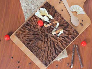 Top View of Coffee Chocolate Cake