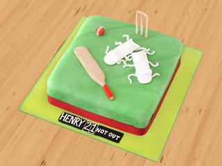 Cricket designer cake
