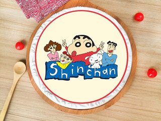 Sinchan Pineapple Poster Cake