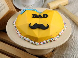 Dad Pinata Cake - A Heart shaped Chocolate Pinata Cake