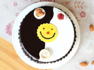 Choco Vanilla Rakhi Special Cake - Top View