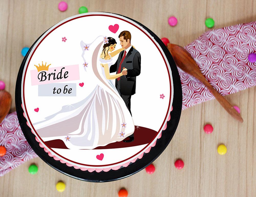 Mrs To Be Photo Cake