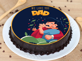 Delicious Fathers Day Poster Cake