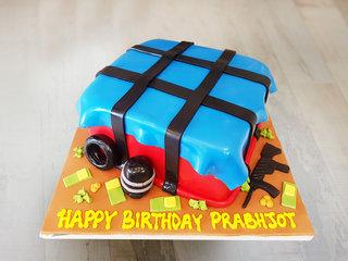 Deliciously PUBG - PUBG Theme Cake