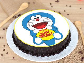 Doraemon Family Kids Chocolate Poster Cake