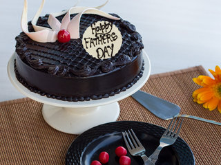 Doting Delight - A Choco Truffle Cake For Fathers Day