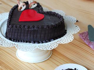 Double Heart Choco Truffle Cake