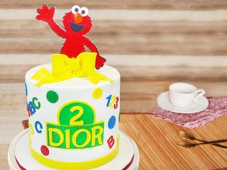 Sesame Street Fondant Cake For Kids