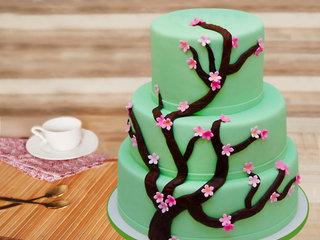Three tier forest cake