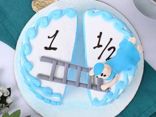 Exotic Baby Milestone Pinapple birthday Cake