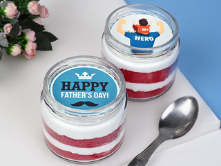 Red Velvet Fathers day Jar Cake