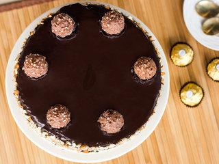 Top View of Ferrero Rocher Cake