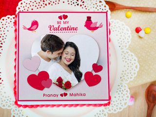 For My Soulmate - A valentine photo cake