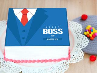 Formal Boss Day Poster Cake
