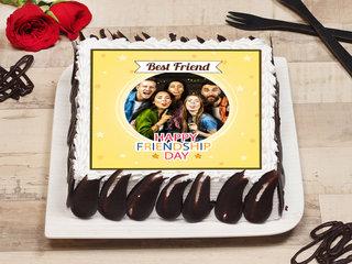 Personalised Happy Friendship Day Photo Cake
