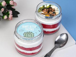 Delightful Red Velvet Jar Cake