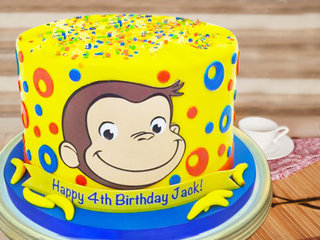 Curious George Cake For Four Year Old