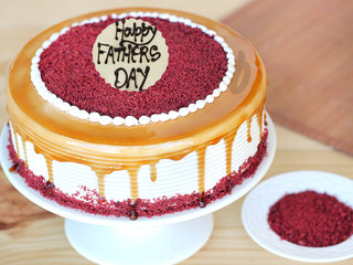 Red Velvet Choco Coffee Cake - A Fathers Day Special Cake