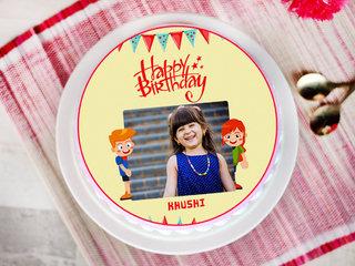 Babyhood Twist - Round Personalised Cake for Kids