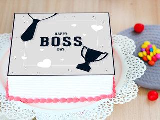 Boss Day Poster Cake