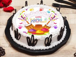 Poster Cake for Holi