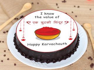 Happy Karwa Chauth Poster Cake