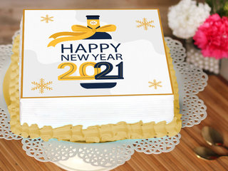 Happy New Year Poster Cake