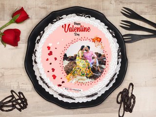 Happy Valentines Day Poster Cake