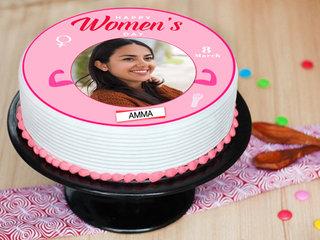 Happy Womens Day Photo Cake