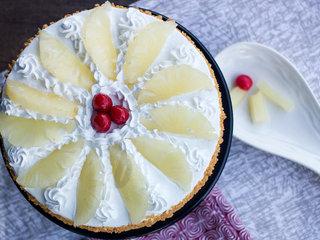 Top View of Hawaiian Pineapple Cake