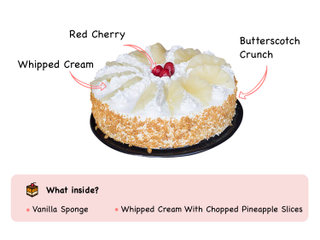 Hawaiian Pineapple Cake with ingredients