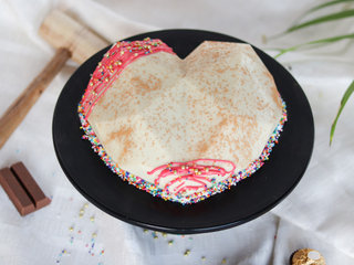 Hearty Choco Gems Pinata Cake