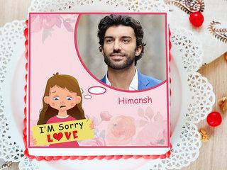 Scrumptious Apologies - Apology Photo Cake