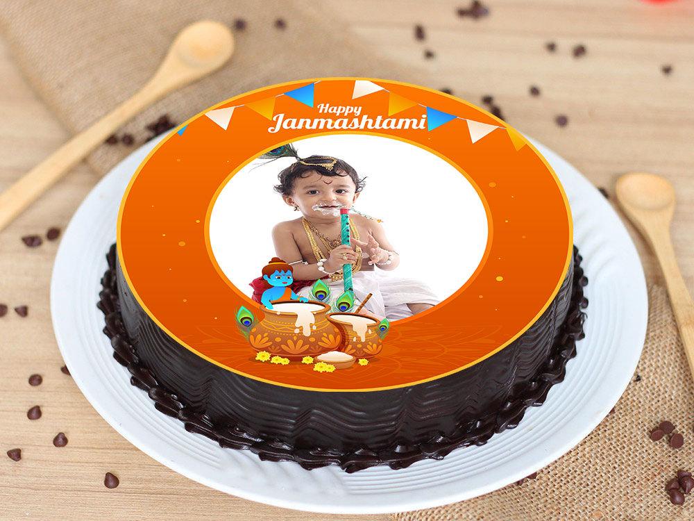 Personalised Janmashtami Cake