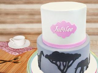 Jungle theme cake for kids
