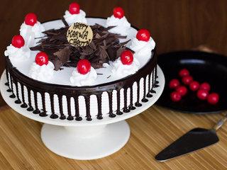 Karwa Chauth Black Forest Cake