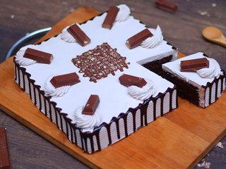 Sliced View of Kitkat Black Forest Cake