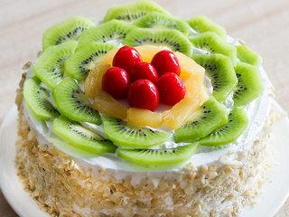 Zoomed View of Kiwi Fruit Cake