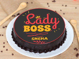 Poster Cake for lady Boss