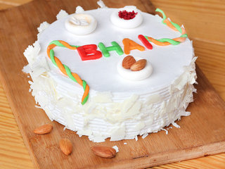 Rakhi With White Forest Cake