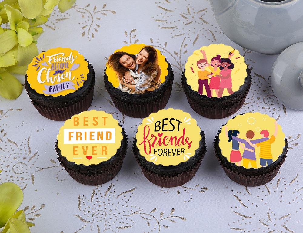 Custom Friendship Day Cupcakes