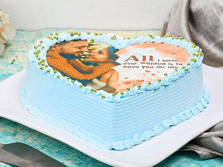 Love Shaped Photo Cake
