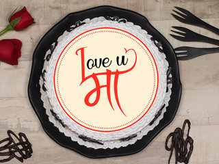 Love You Maa Poster Cake