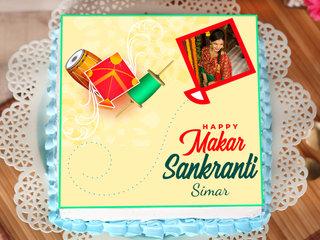 Makar Sankranti Photo Cake