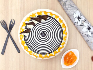 Top View of Vegan Mango Cake