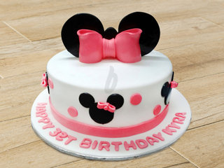 Minnie Theme Cake For Girl