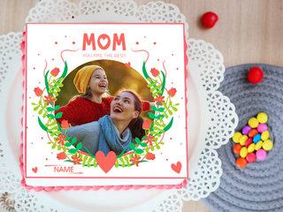 Mom Best Square Photo Cake