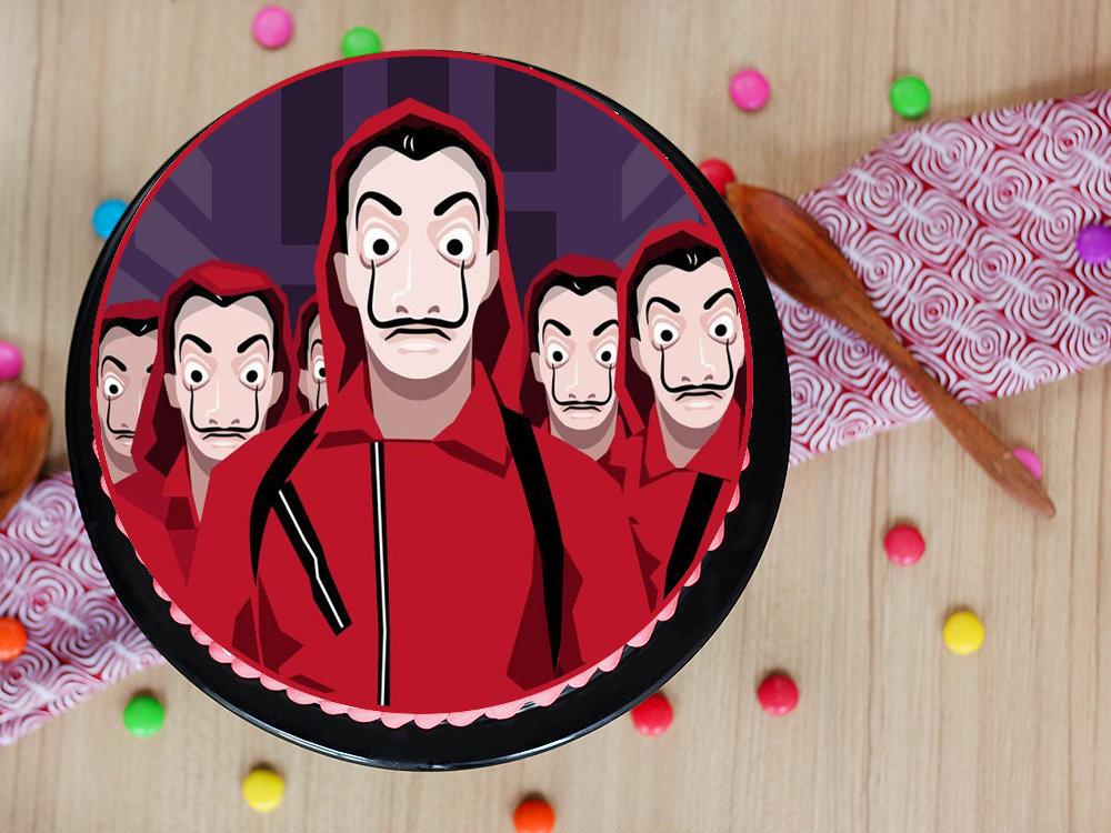 Money Heist Mask and Professor Cake