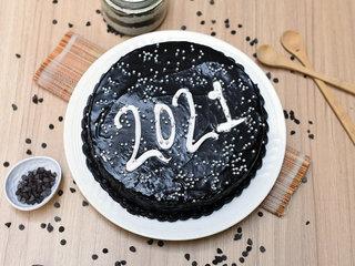 New Year 2021 Chocolate Cake